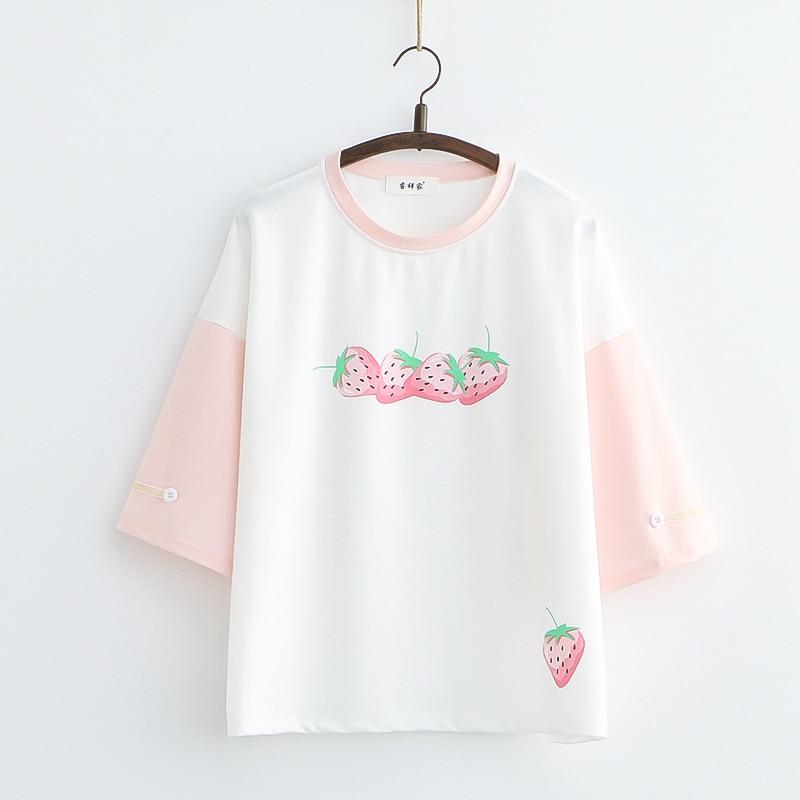 Kawaii Strawberry Soft Pastel Shirt – Limited Edition
