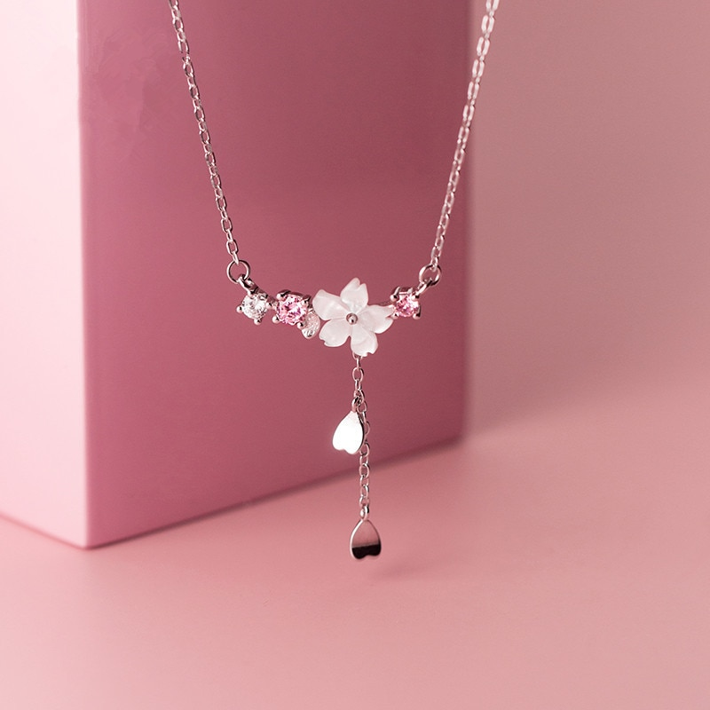 Kawaii Cherry Blossom Flower Necklace – Limited Edition