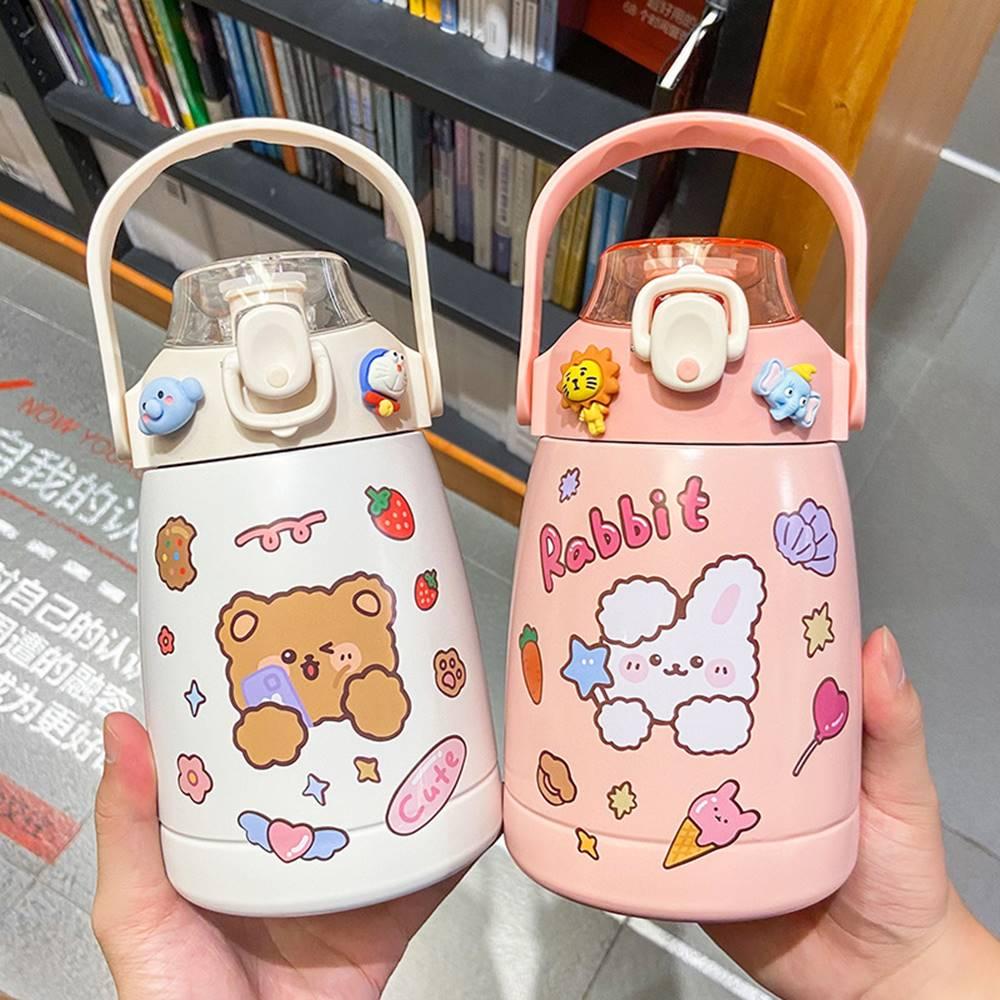 Kawaii Bear Bunny Sticker Style Bottle (1000ml)