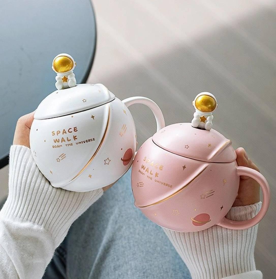Kawaii Astronaut Space Ceramic Coffee Cup (400ml)