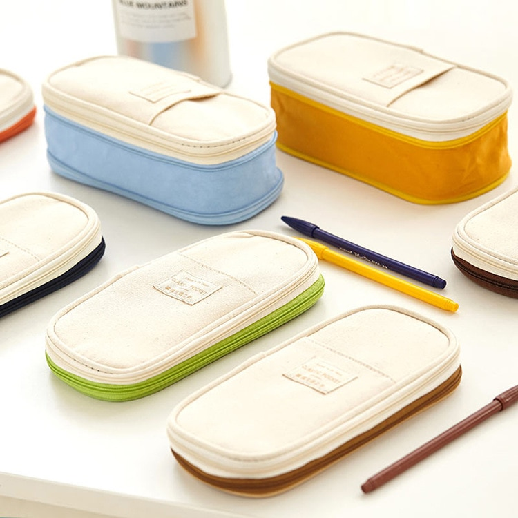 Kawaii Pocket Style Zipper Pencil Case – Limited Edition