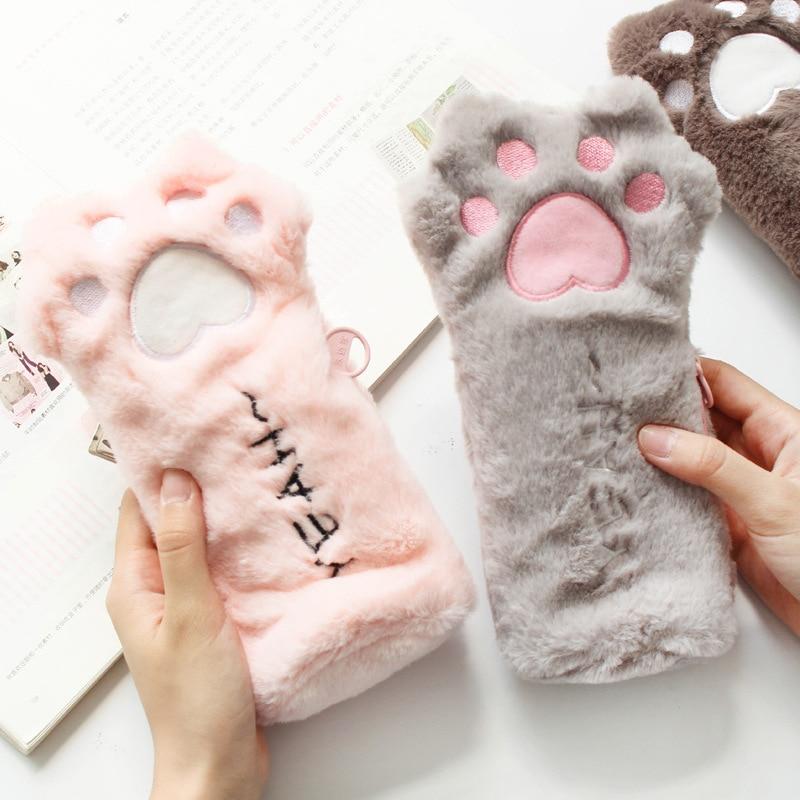 Kawaii Cat Paw Plush Pencil Case – Limited Edition