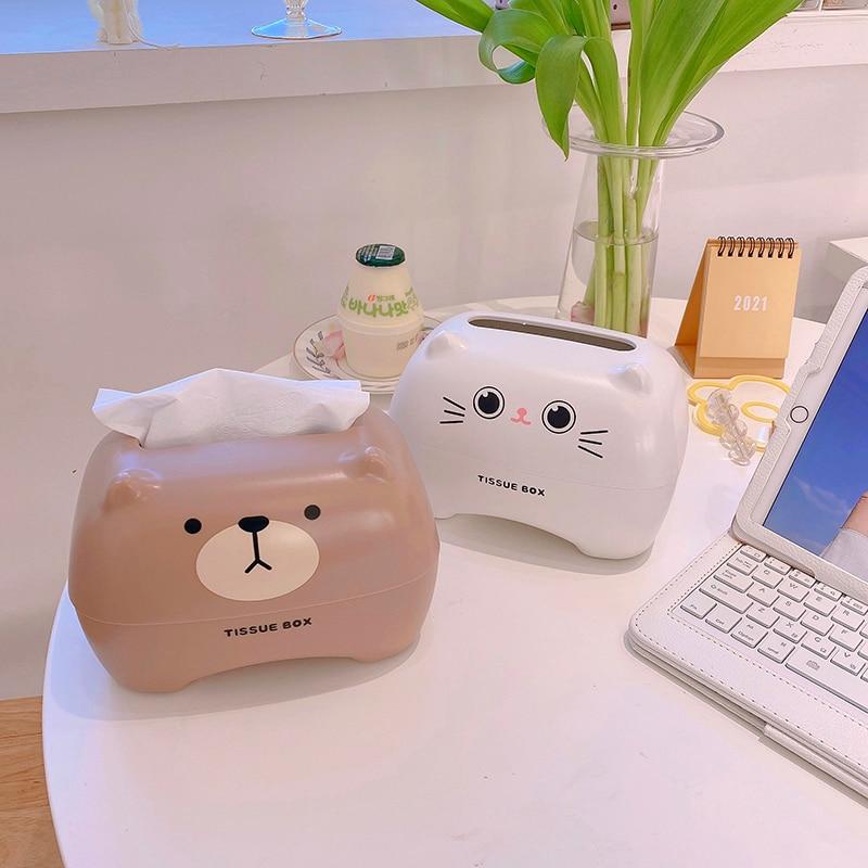 Kawaii Bear Cat Style Tissue Box – Limited Edition