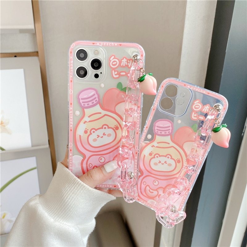 Kawaii Japanese Style Peach Bottle Phone Case