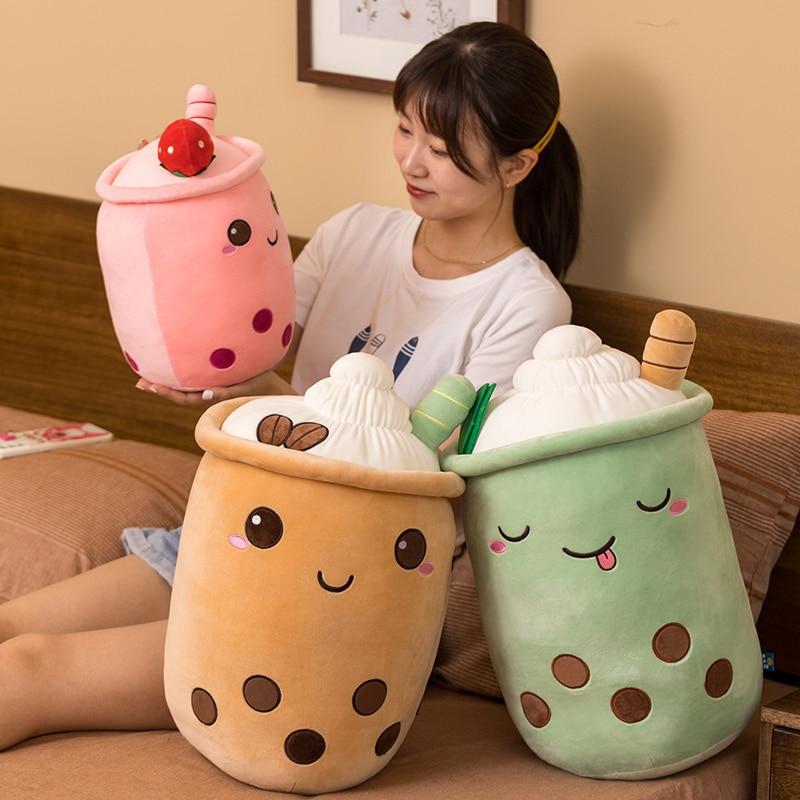 Kawaii Bubble Tea Fruit Series Plush XL (50cm)