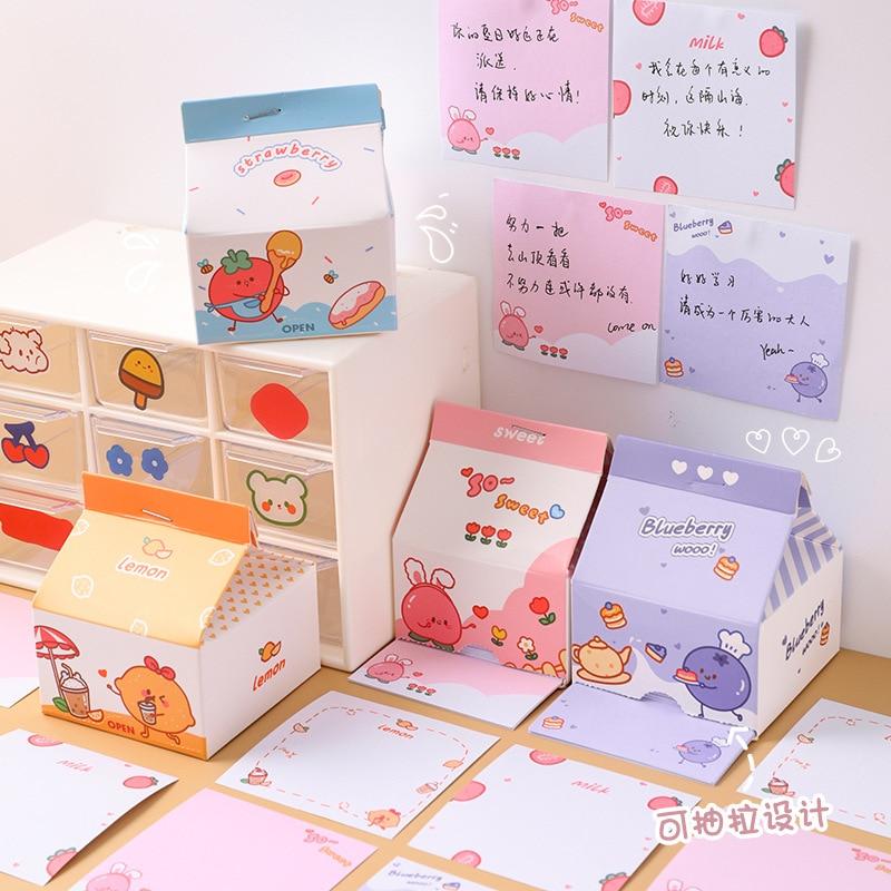 Kawaii Fruit Style Pastel Memo Notepads