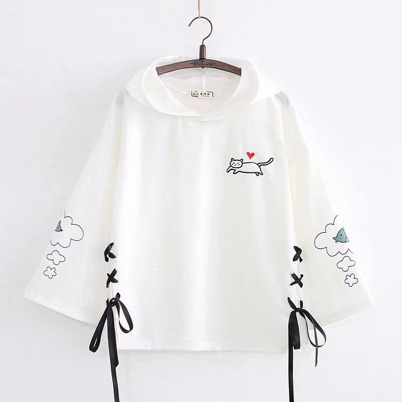 Kawaii Neko Cat Cloud Korea Style Hoodie – Limited Edition