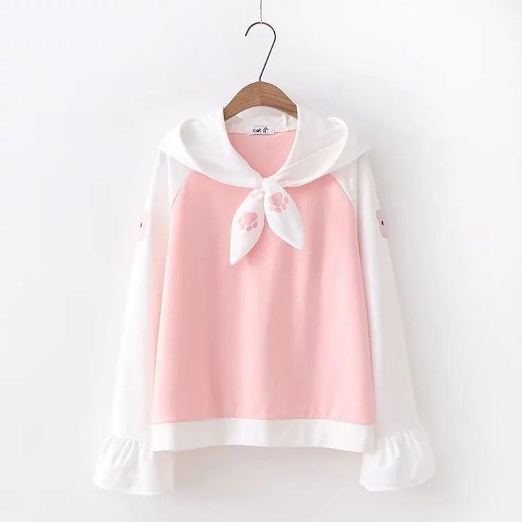 Kawaii Harajuku Cat Style Sleeve Hoodie – Limited Edition