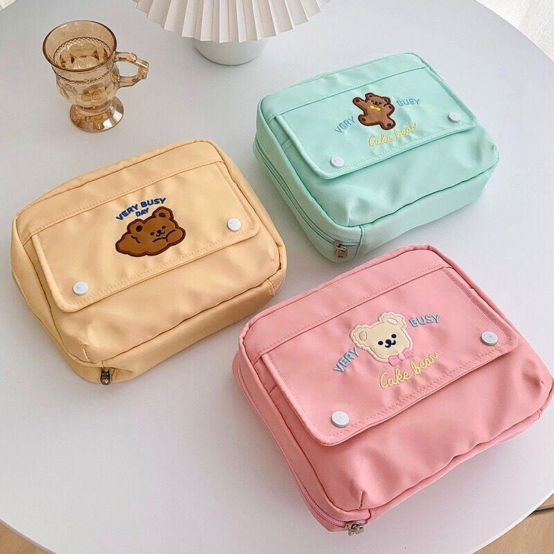 Kawaii Korea Style Bear Zipper Pencil Bag