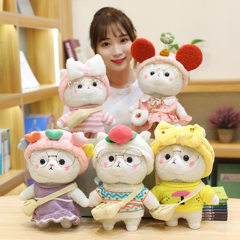 Kawaii Dressed Up Sheep Plush Doll (30cm) – Limited Edition